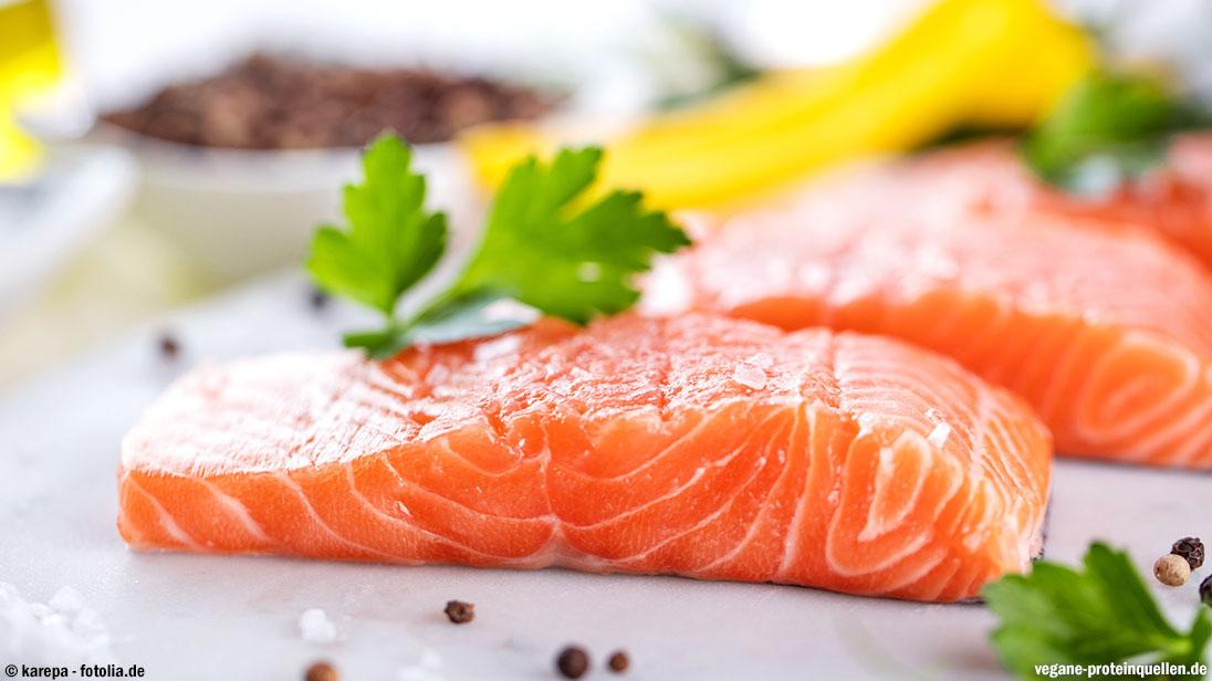 Lachs als tierische Proteinquelle